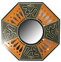 """Зеркало мозаичное """"ОМ"""" (50х50х1 cм)"""