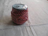 Гирлянда-бусы, катушка диаметр 6мм, длина 10м. №SH004С красные