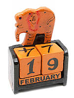 """Календарь настольный """"Слон"""" дерево (17х10х5 см)"""