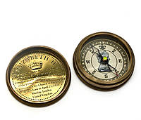 "Компас ""Elizabeth"" антик бронза (6х6х2 см)"