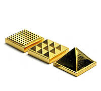 Пирамида энергетическая бронзовая (3х3х3 см)