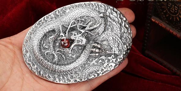 Серебряная пряжка мужские резинки для волос
