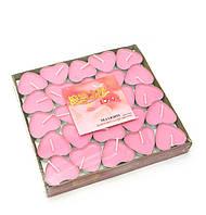 Свечи Сердечки розовые (набор 50 штук)