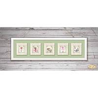 Схема для вышивания бисером Tela Artis Винтажная коллекция миниатюр М-001-005