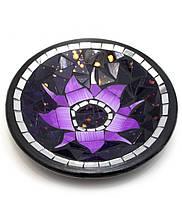 """Тарелка терракотовая с мозаикой """"Лотос"""" (d- 20 h-4 см)"""