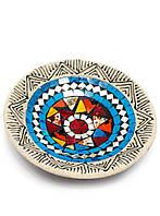 Тарелка терракотовая с мозаикой (d-19,5 h-3 см)