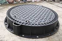 Люк канализационный тяжелый магистральный KASI тип ТМ (D400) KDU81P (Чехия)
