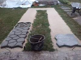 Создаваем бетонную дорожку для машины, другой ракурс.
