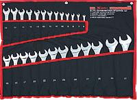 Набор ключей комбинированных, 6 - 32 мм, 25 шт., CrV, полированный хром MTX 154259