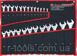 Набір ключів комбінованих, 6 - 32 мм, 25 шт., CrV, полірований хром MTX 154259