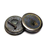 Часы солнечные с компасом (5х5х1,5 см) АНТИК