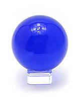 Шар хрустальный на подставке синий (d-8 см)