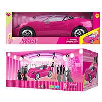 Автомобиль для кукол Defa Lucy 8249, стильный розовый кабриолет, коробка 42х18х14,5 см, возраст 3+