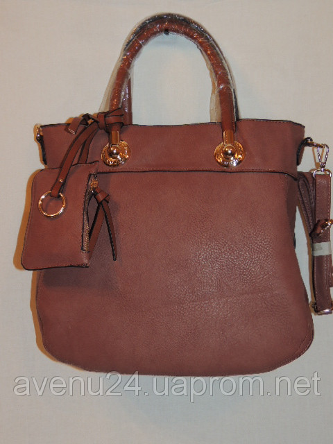 Красивая сумка женская из искусственной кожи (Италия) Бордовый