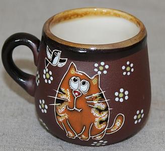 """Чашка кофейная (125мл) """"Кот рыжик"""""""