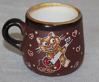 """Чашка кофейная (125мл) """"Кот с гитарой"""""""