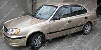 Ветровики окон Хендай Акцент 2 (дефлекторы боковых окон Hyundai Accent 2)
