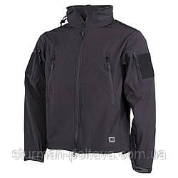 """Куртка мужская тактическая демисезонная  SOFTSHELL JACKE """"Scorpion""""  MFH    цвет черный Германия"""