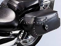Сумки боковые кожаные с заклепками на мотоцикл Suzuki Intruder