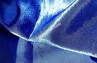 Креп сатин, синий.