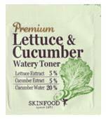 Тоник увлажняющий для кожи любого типа SKINFOOD Premium Lettuce & Cucumber Watery Toner 2г, фото 1