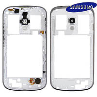 Средняя часть корпуса для Samsung S7562, белая, оригинал