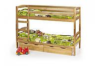 Кровать Sam ольха + шухляди