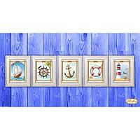 Схема для вышивания бисером Tela Artis Морская коллекция миниатюр М-006-010
