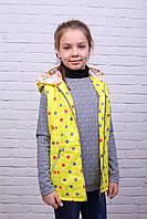 Модная детская жилетка на синтепоне