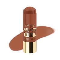 L.A.Girl GCS 596 Velvet Contour Sticks Bronzer-Suede - Бархатный контур в стике, 5.8 г