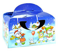 Коробочка Сундучек-снеговечек