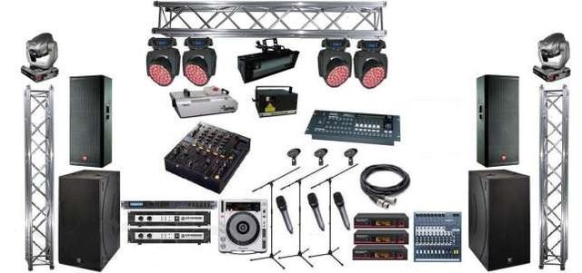 Техническое обеспечение мероприятий. Сцены, подиум, звук, свет.