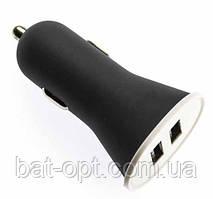 Автомобильное зарядное устройство АЗУ - USB 3100mAh 2выхода (черный)
