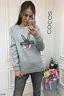 """Стильная утепленная женская кофта  """" The Rabbit """" SK House"""