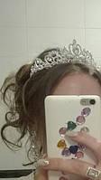 Корона, диадема для конкурса, в серебре высота 5 см.