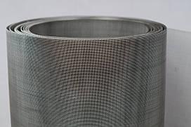 Сітка ткана з нержавіючої дроту. Осередок: 0,14 мм, Дріт: 0,09 мм, Ширина 1м.
