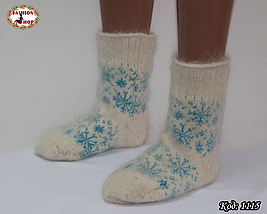 Женские пуховые  носки  Олень, фото 3