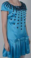 Стильное платье Мальвина голубого цвета