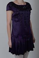 Нарядное платье со складочками по низу