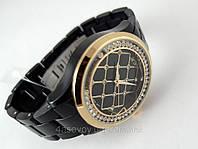 Часы Alberto Kavalli черный браслет, бегущие кристаллы, фото 1