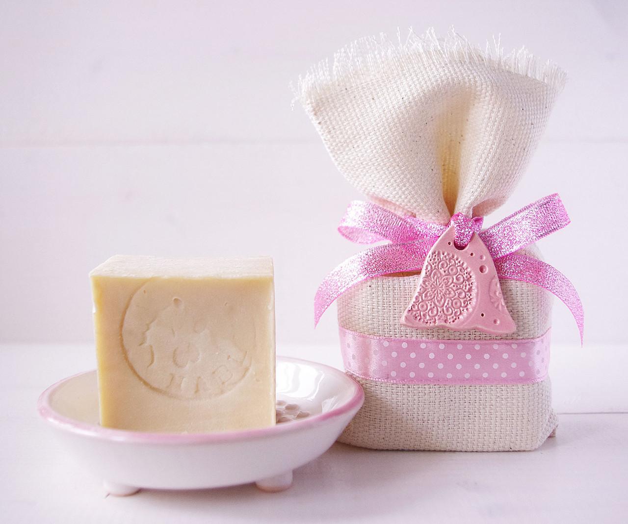 """Подарочный набор №5 """"Мыльница&Nablus"""" розовый"""