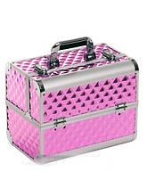"""Чемодан для визажиста с выдвижными полочками """"Diamonds"""", розовый"""