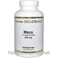 Мака, экстракт, California Gold Nutrition, 500 мг, 240 растительных капсул
