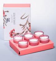 "Набор из 6 арома свечей ""Цветущая вишня"""