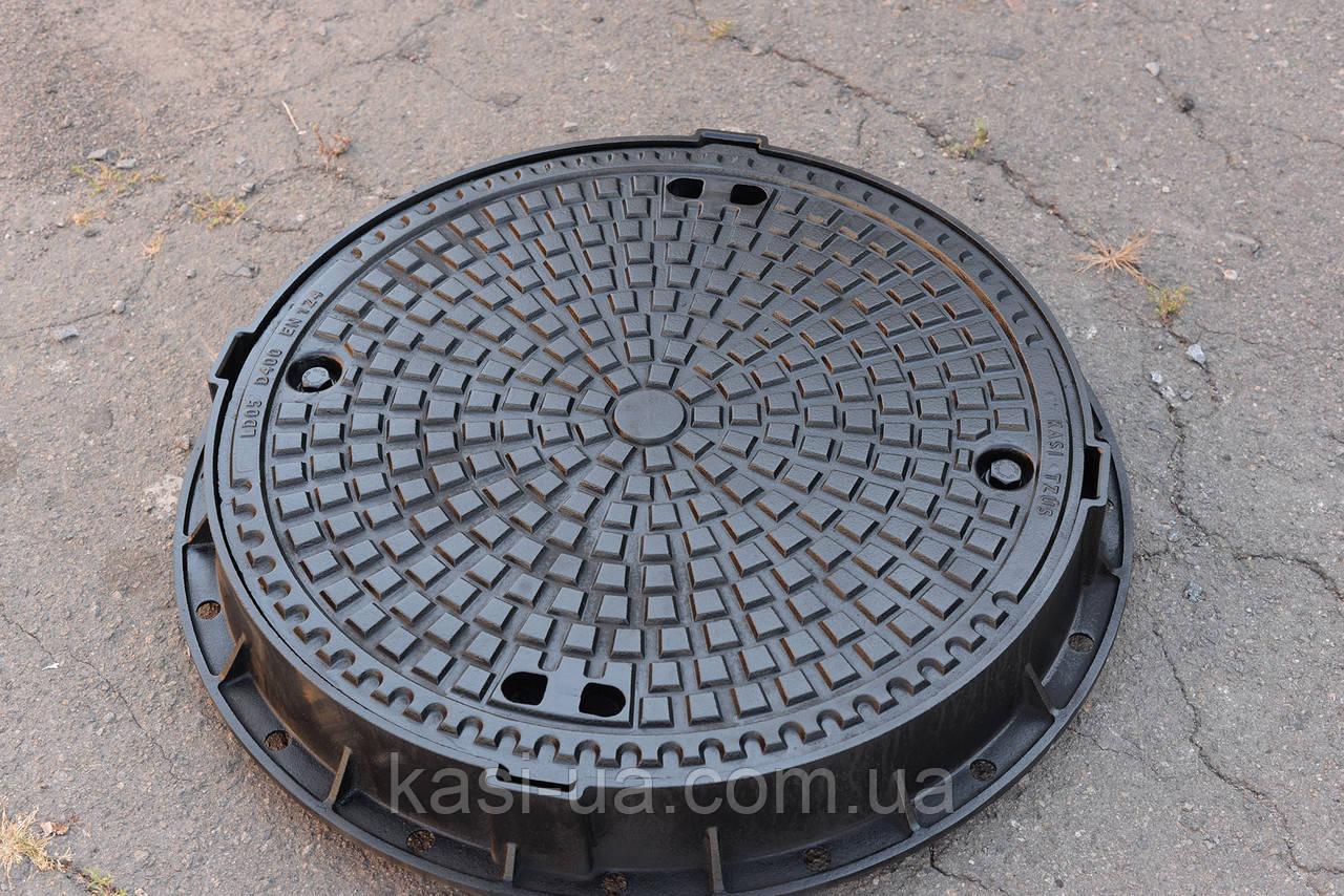 Люк канализационный герметичный тяжелый магистральный KASI тип ТМ (D400) KDLV05BN (Чехия)