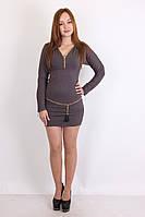Короткое платье серого оттенка