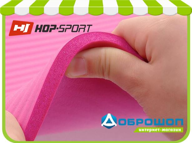 Коврик для фитнеса и йоги из вспененного каучука  «HOP-SPORT NBR-10» 1730x610x10мм