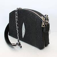 Женская сумка из кожи ската (STH 200 Black), фото 1