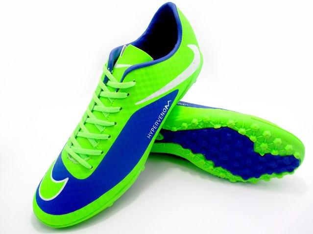Футбольные сороконожки Nike HyperVenom Phelon TF Green/Blue/White