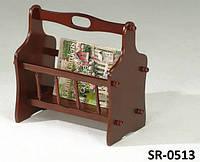 Газетница SR-0513, стойка для хранения прессы, цвет орех